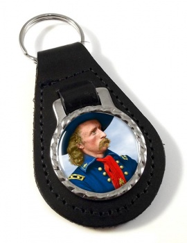 General Custer Leather Key Fob