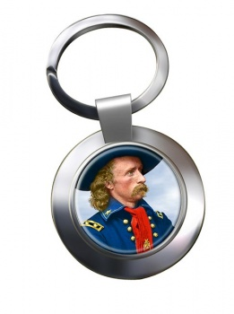 General Custer Chrome Key Ring