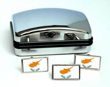 Cyprus  Flag Cufflink and Tie Pin Set