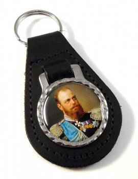 Czar Alexander III Leather Key Fob