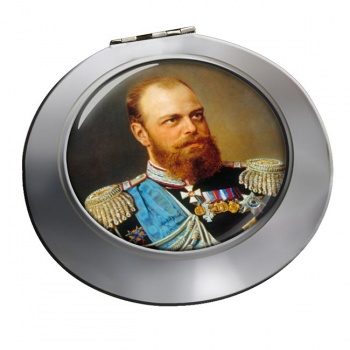 Czar Alexander III Chrome Mirror