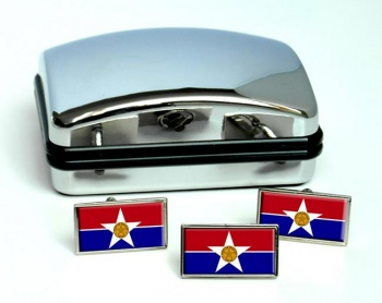 Dallas TX  Flag Cufflink and Tie Pin Set