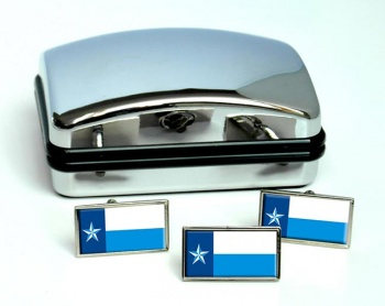 Dallas County TX  Flag Cufflink and Tie Pin Set