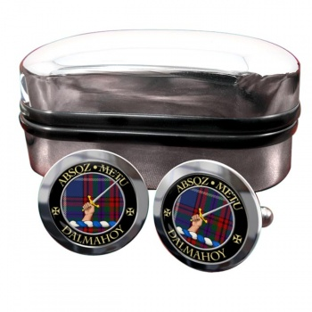 Dalmahoy Scottish Clan Round Cufflinks