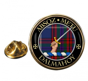 Dalmahoy Scottish Clan Round Pin Badge