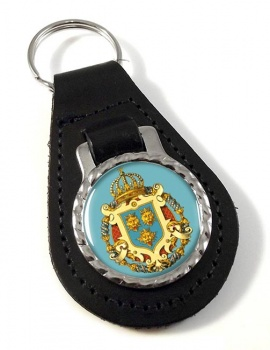Dalmatia Dalmacija (Croatia) Leather Key Fob