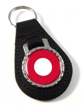 Royal Danish Air Force (Kongelige Danske Flyvevåbnet) Roundel Leather Key Fob