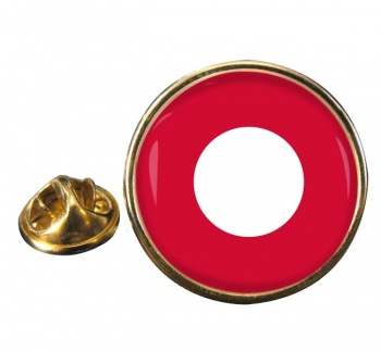 Royal Danish Air Force (Kongelige Danske Flyvevåbnet) Roundel Round Pin Badge