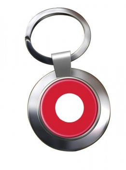 Royal Danish Air Force (Kongelige Danske Flyvevåbnet) Roundel Chrome Key Ring