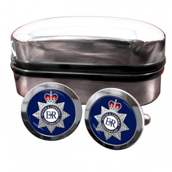 Devon & Cornwall Constabulary Round Cufflinks