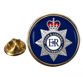 Devon & Cornwall Constabulary Round Pin Badge