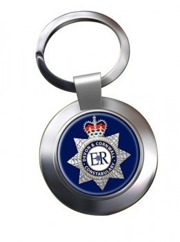 Devon & Cornwall Constabulary Chrome Key Ring