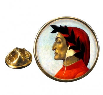 Dante Alighieri Round Pin Badge
