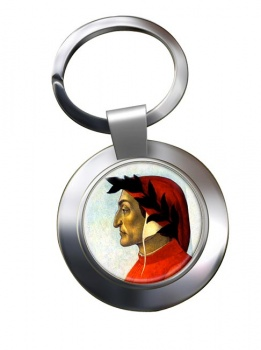 Dante Alighieri Chrome Key Ring