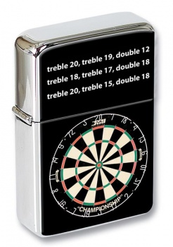 Dartboard Design Flip Top Lighter