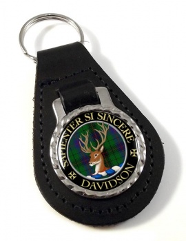 Davidson Scottish Clan Leather Key Fob
