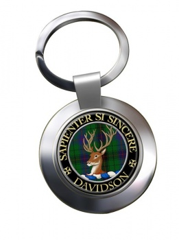 Davidson Scottish Clan Chrome Key Ring