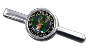 Davidson Scottish Clan Round Tie Clip