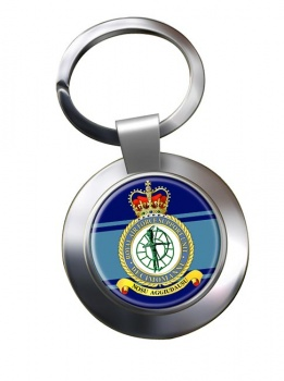 RAF Station Decimomannu Chrome Key Ring