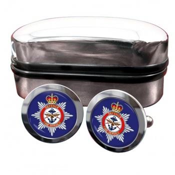 Defence Fire Service Round Cufflinks
