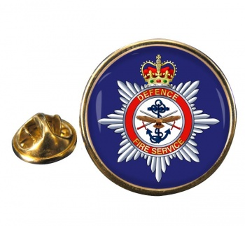 Defence Fire Service Round Pin Badge