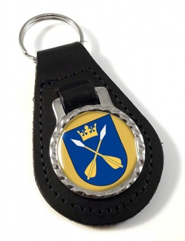Dalarna (Sweden) Leather Key Fob