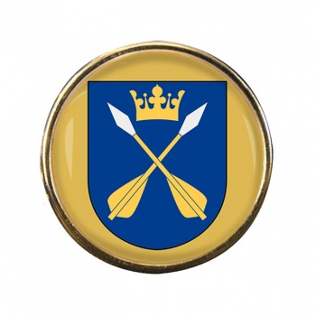 Dalarna (Sweden) Round Pin Badge