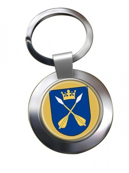 Dalarna (Sweden) Metal Key Ring