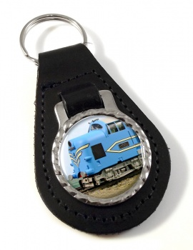 Deltic Locomotive Leather Keyfob