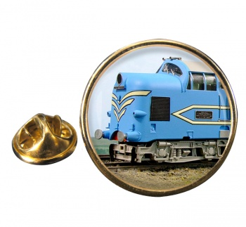Deltic Locomotive Round Lapel