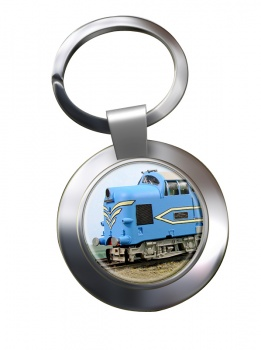 Deltic Locomotive Chrome Key Ring