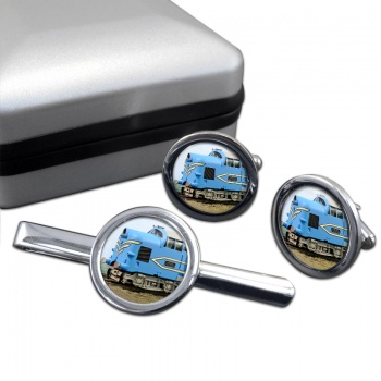 Deltic Locomotive Cufflink and Tie Clip Set