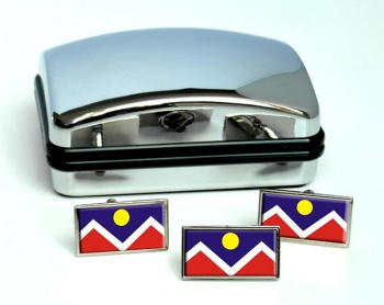 Denver CO  Flag Cufflink and Tie Pin Set