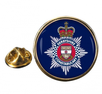 Derbyshire Constabulary Round Pin Badge