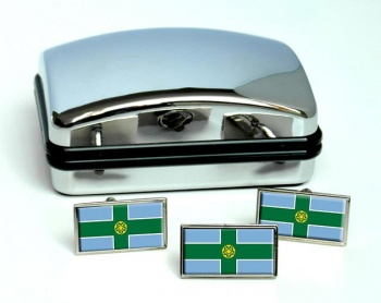 Derbyshire (England) Flag Cufflink and Tie Pin Set