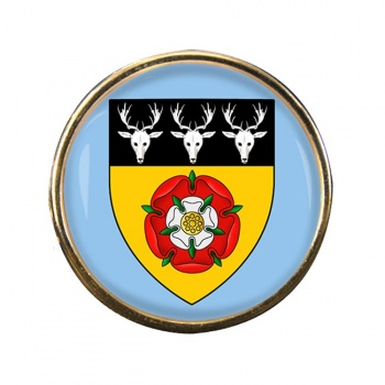 Derbyshire (England) Round Pin Badge