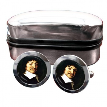 Rene� Descartes Round Cufflinks