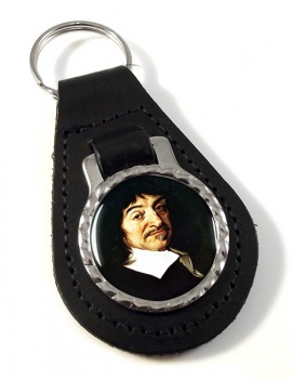 Rene� Descartes Leather Key Fob