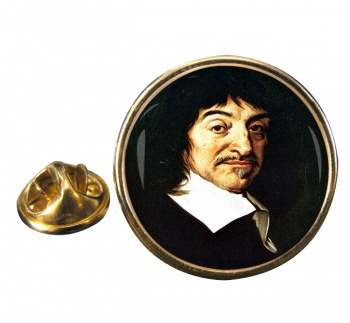Rene� Descartes Round Pin Badge