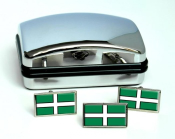 Devon (England) Flag Cufflink and Tie Pin Set