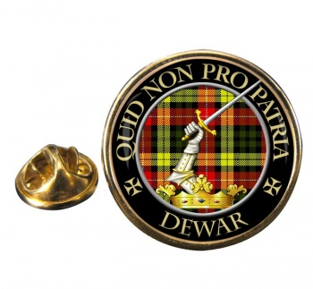 Dewar Scottish Clan Round Pin Badge