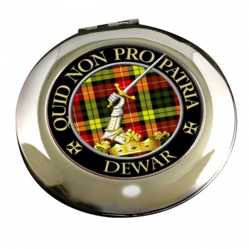 Dewar Scottish Clan Chrome Mirror