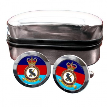 Defence Electronic Warfare Centre Round Cufflinks