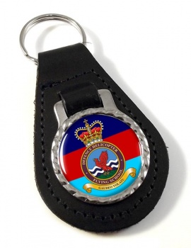 Defence Helicopter Flying School Leather Key Fob