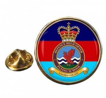 Defence Helicopter Flying School Round Pin Badge