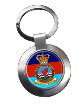 Defence Helicopter Flying School Chrome Key Ring