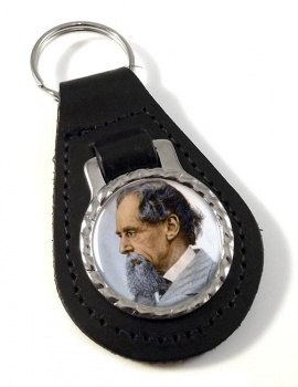 Charles Dickens Leather Key Fob