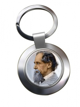 Charles Dickens Chrome Key Ring
