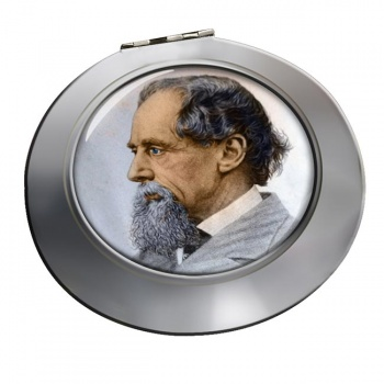 Charles Dickens Chrome Mirror