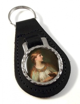 Ophelia by Thomas Francis Dicksee Leather Keyfob